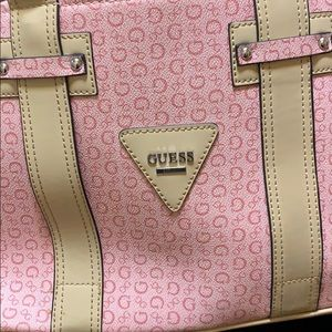 Guess pink hand bag / tote